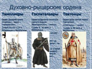 Духовно-рыцарские ордена