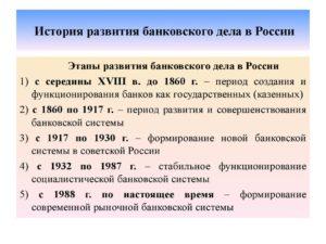 Историческое развитие кредитной системы