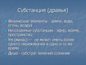 СУБСТАНЦИЯ (substantia)