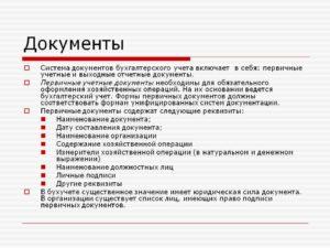 Система бухгалтерской документации