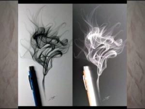 Как нарисовать дым