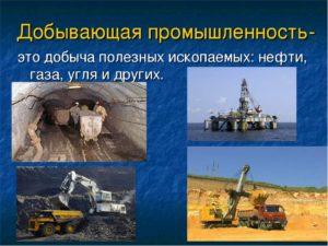 Определение добывающей промышленности