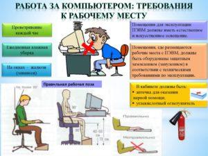 Охрана труда при работе с ЭВМ