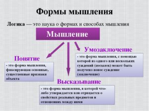 Формы мышления