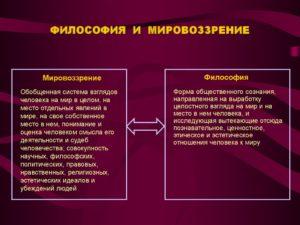 Философия как форма мировоззрения и наука(Лекция, тесты)