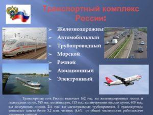 Транспортный комплекс России и задачи его развития