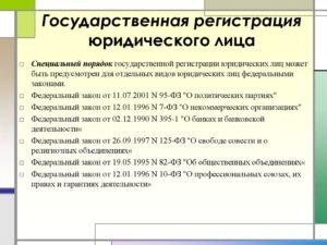 Порядок государственной регистрации юридических лиц, индивидуальных предпринимателей