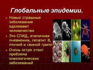 Угрозы новых глобальных эпидемий для человека и животных