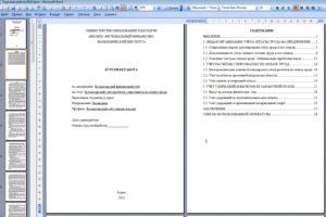 ИНСТРУКЦИЯ о порядке выполнения и оформления дипломных, курсовых, контрольных работ и рефератов