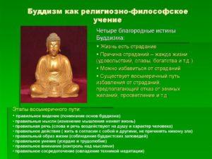 Философское учение буддизма