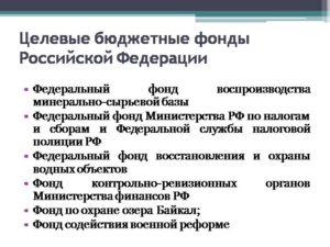 Правовое регулирование целевых фондов в РФ