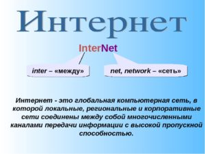 Реферат Интернет