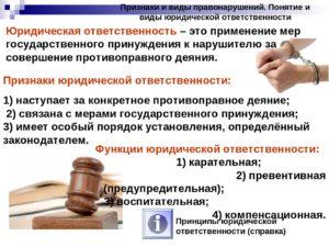 Понятие, признаки и виды юридической ответственности