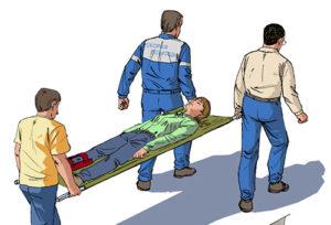 Транспортировка пострадавшего из очага чрезвычайной ситуации
