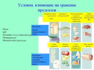 Хранение пищевых продуктов и оценка их качества