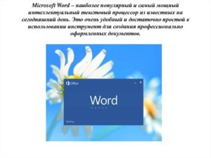 Microsoft Word – мощный текстовой процессор